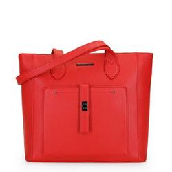 Klasická nákupní taška s přední kapsou, karmín, 29-4Y-002-3, Obrázek 1