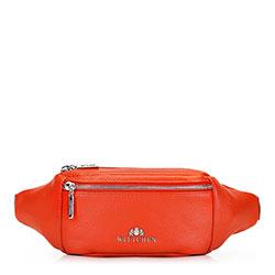 Женская кожаная сумка на пояс, кармин, 92-4E-301-6, Фотография 1