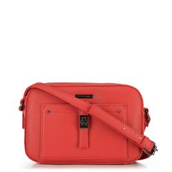 Женская сумка через плечо с передним карманом, кармин, 29-4Y-001-3, Фотография 1