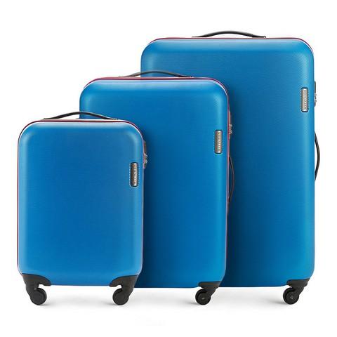 Bőrönd szett 3 db-os görgős, kék, 56-3-61S-90, Fénykép 1