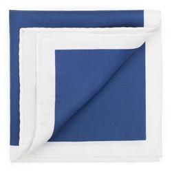 Díszzsebkendő, kék fehér, 87-7P-001-7X, Fénykép 1