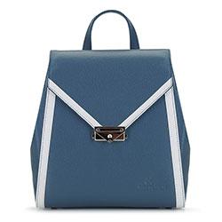 Női bőr hátizsák, kék fehér, 92-4E-312-7, Fénykép 1