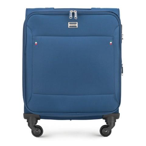 Kabinbőrönd egyszínű, kék, 56-3S-531-9R, Fénykép 1