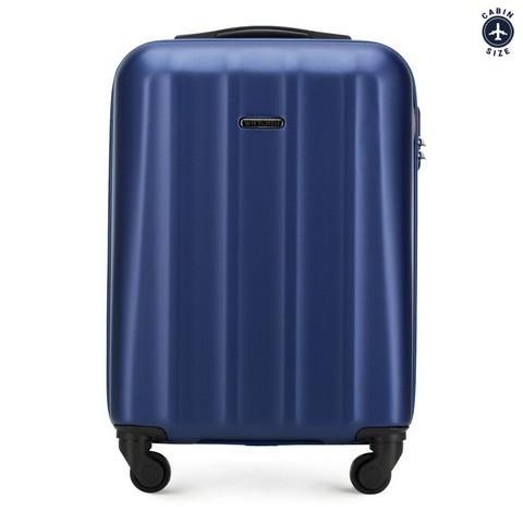 Polikarbonát kis kabin bőrönd, kék, 56-3P-111-35, Fénykép 1