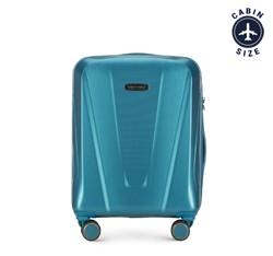 Kabinbőrönd polikarbonát geometrikus mintával, kék, 56-3P-121-95, Fénykép 1