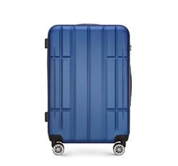 Közepes méretű bőrönd, kék, 56-3A-342-90, Fénykép 1