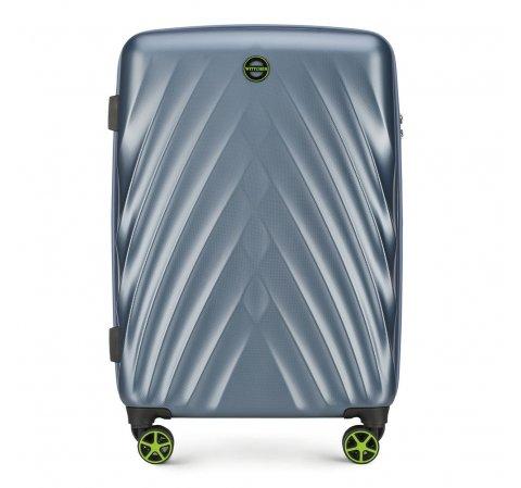 Közepes bőrönd, kék, 56-3P-802-44, Fénykép 1