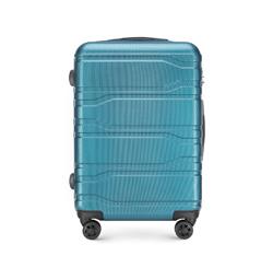 Közepes bőrönd, kék, 56-3P-982-96, Fénykép 1