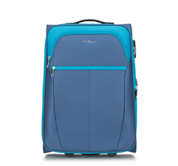 Közepes bőrönd, kék, V25-3S-232-95, Fénykép 1