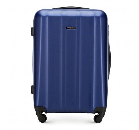 Polikarbonát közepes méretű bőrönd, kék, 56-3P-112-35, Fénykép 1