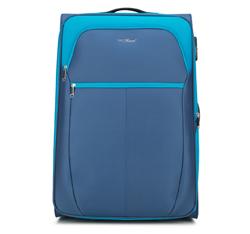 Nagy bőrönd, kék, V25-3S-233-95, Fénykép 1