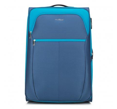 Nagy bőrönd, kék, V25-3S-233-31, Fénykép 1