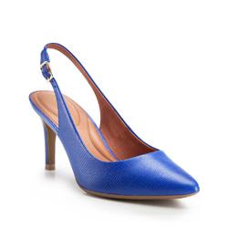 Nubuk bőr tűsarkú, kék, 86-D-559-7-35, Fénykép 1