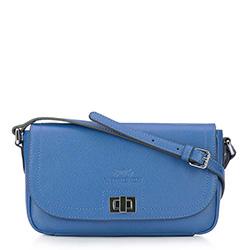 Női bőr táska, kék, 92-4E-632-7, Fénykép 1
