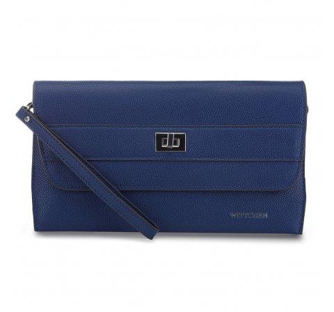 női bőr estélyi táska, kék, 91-4E-623-1, Fénykép 1