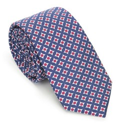 Nyakkendő selyemből mintás, kék piros, 91-7K-001-X4, Fénykép 1