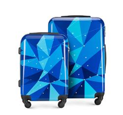 ABS modern bőröndszett, kék, 56-3A-64S-90, Fénykép 1