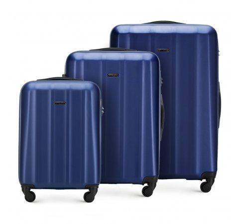 Bőröndszett polikarbonát anyagból, kék, 56-3P-11S-35, Fénykép 1