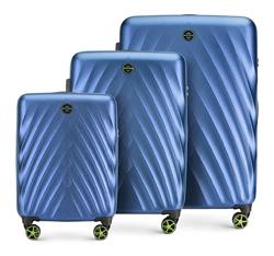 Bőröndkészlet polikarbonát, kék, 56-3P-80S-91, Fénykép 1