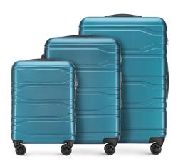 Bőröndszettek, kék, 56-3P-98S-96, Fénykép 1