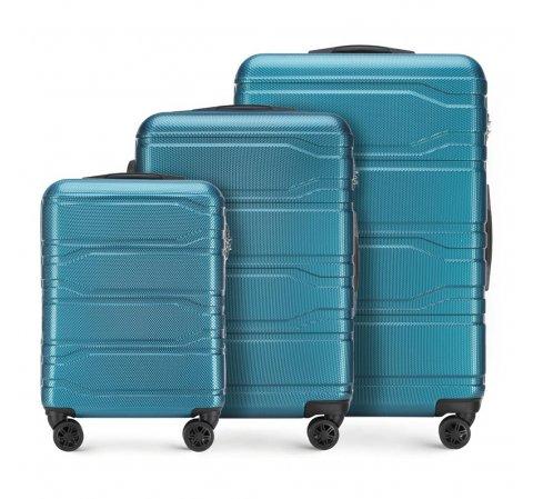 Bőröndszettek, kék, 56-3P-98S-31, Fénykép 1