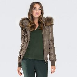 Dámská bunda, khaki, 87-9D-404-Z-XL, Obrázek 1