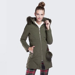 Dámská bunda, khaki, 87-9N-501-Z-S, Obrázek 1