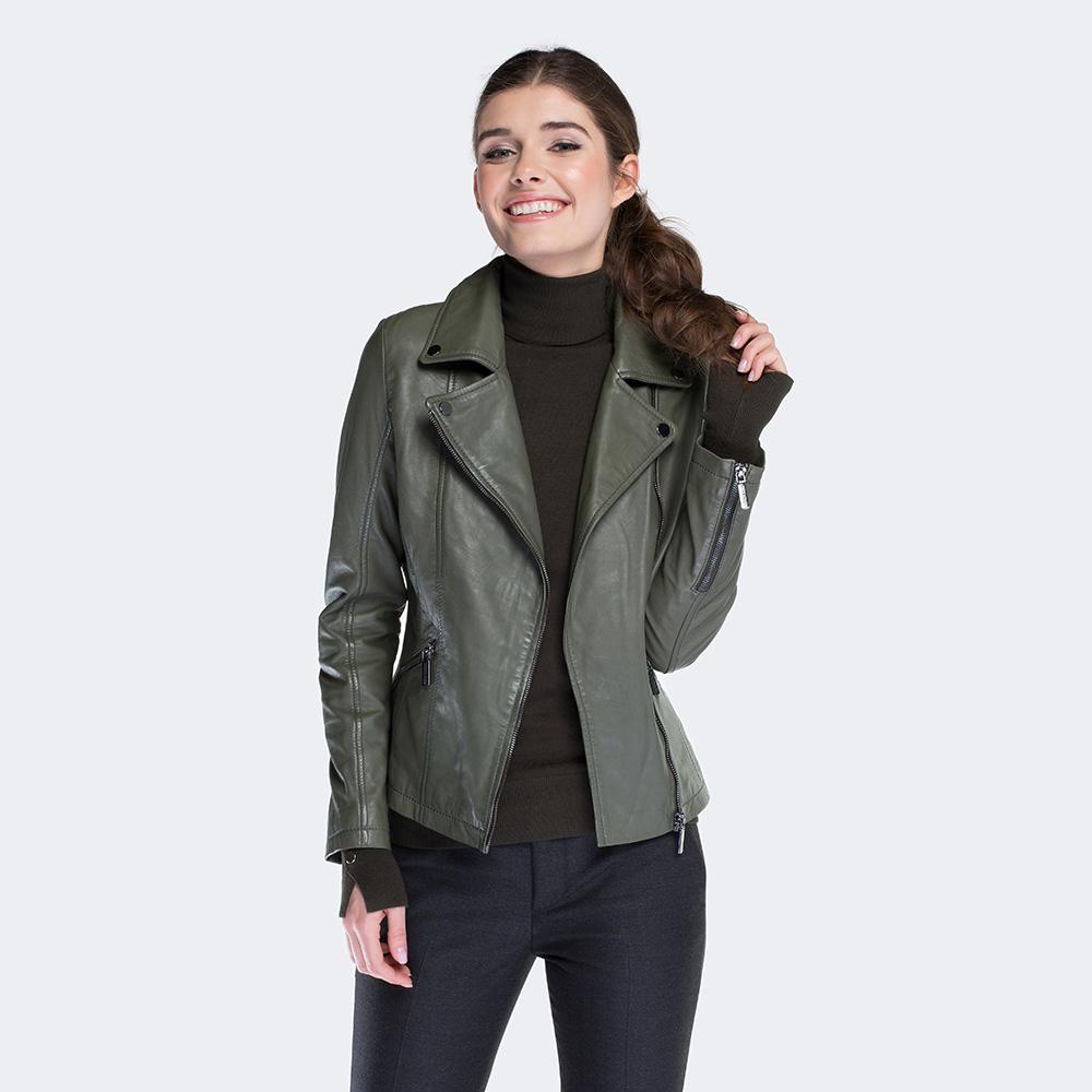 Dámská bunda, khaki, 88-09-204-Z-S, Obrázek 1
