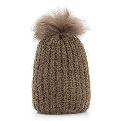 Dámská čepice, khaki, 87-HF-016-Z, Obrázek 1