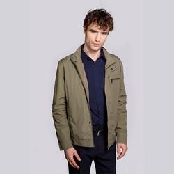 Férfi széldzseki kabát rejtett cipzárral, khaki, 92-9N-450-Z-L, Fénykép 1