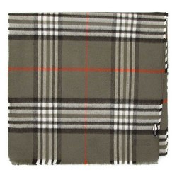 SCHAL MIT KARO-MUSTER, khaki, 91-7M-X20-X1, Bild 1