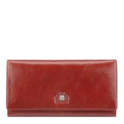 Женский кожаный большой кошелек с гербом, кирпичный, 22-1-075-3, Фотография 1