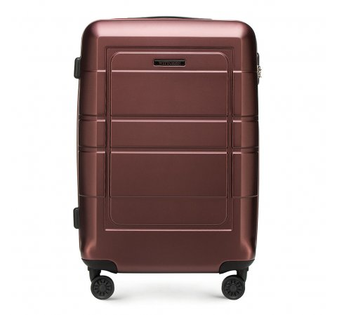 Közepes méretű bőrönd, barna, 56-3H-542-9R, Fénykép 1