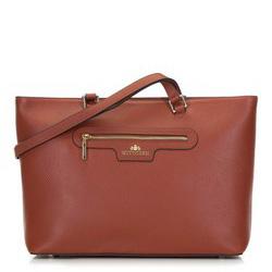 Классическая кожаная сумка-шоппер, коньячный, 29-4E-009-5, Фотография 1