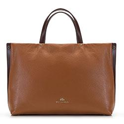 Кожаная сумка с карманом для ноутбука, коньячный, 92-4E-310-5, Фотография 1