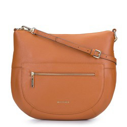 Női kis táska  bőrből vékony övvel, konyak, 93-4E-609-5, Fénykép 1
