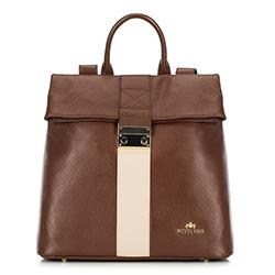 Рюкзак женский, коричнево - бежевый, 90-4E-600-5, Фотография 1
