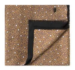 Шарф мужской, коричнево-черный, 83-7M-X40-X4, Фотография 1