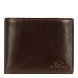 Кожаный мужской кошелек с откидным вкладышем, коричнево - золотой, 21-1-262-40, Фотография 1