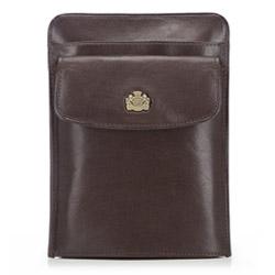 Барсетка кожаная для паспорта, коричневый, 10-5-127-4, Фотография 1