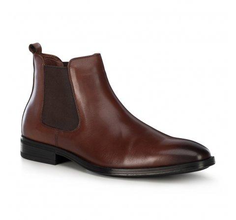 Кожаные мужские ботинки, коричневый, 91-M-912-1-41, Фотография 1