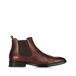 Кожаные мужские ботинки, коричневый, 91-M-912-5-45, Фотография 1
