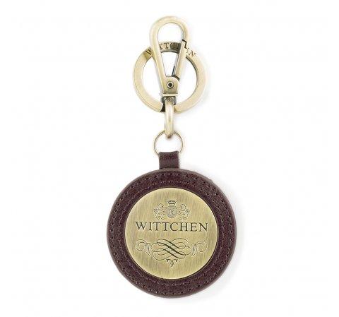 Брелок кожаный круглый, коричневый, 03-2B-001-Z4, Фотография 1