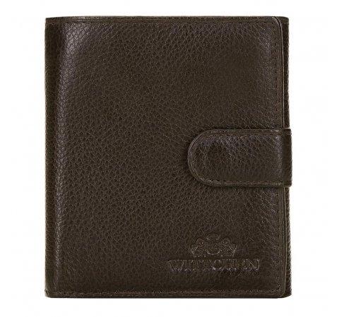 Классический кожаный мужской кошелек, коричневый, 21-1-010-44L, Фотография 1