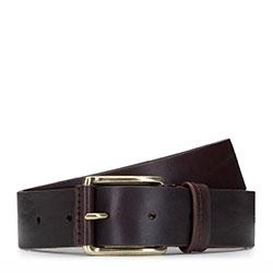Классический мужской кожаный ремень, коричневый, 92-8M-355-4-12, Фотография 1