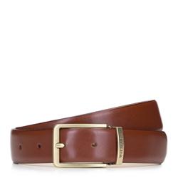 Классический мужской кожаный ремень, коричневый, 92-8M-362-5-10, Фотография 1