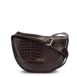 Женская сумка в форме полумесяца, коричневый, 91-4Y-714-4, Фотография 1