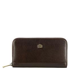 Женский винтажный кожаный кошелек, коричневый, 10-1-104-4, Фотография 1