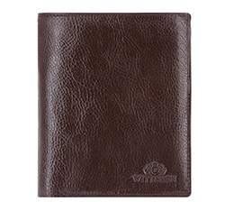Мужской кожаный кошелек из трех частей, коричневый, 21-1-044-4, Фотография 1