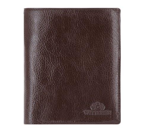 Мужской кожаный кошелек из трех частей, коричневый, 21-1-044-1, Фотография 1